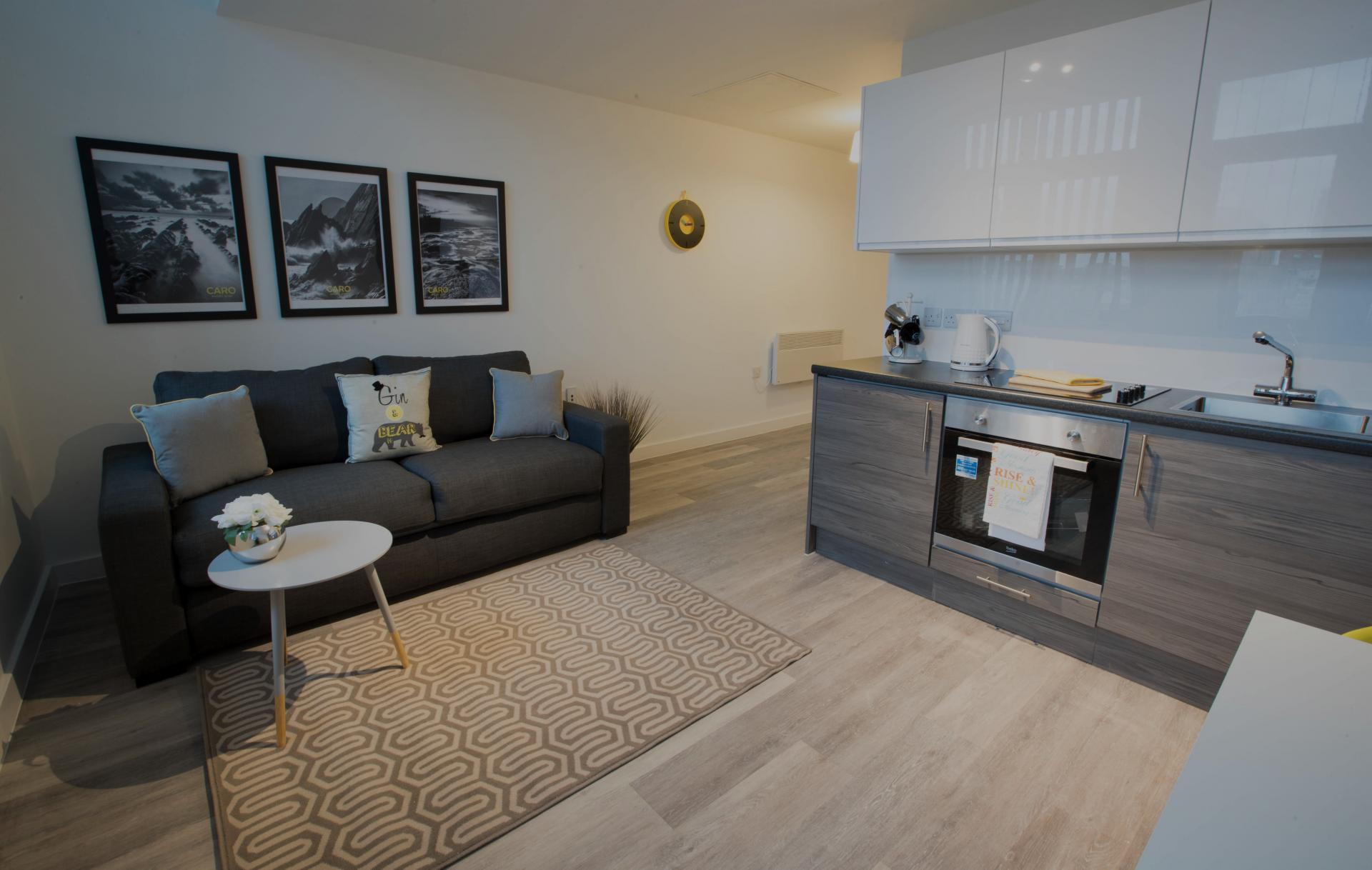 Sofa at Parker Street Apartments - Citybase Apartments