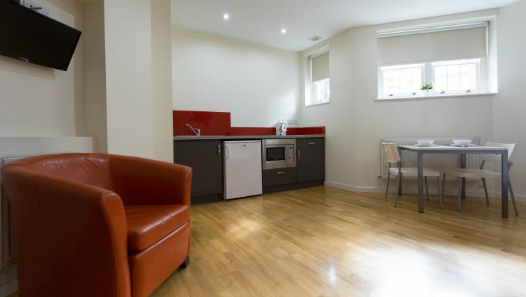 Fully equipped kitchen at St James House - Citybase Apartments