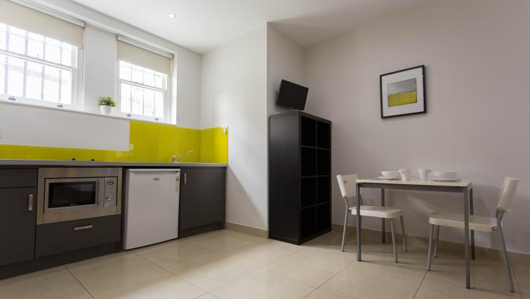 Kitchen at St James House - Citybase Apartments