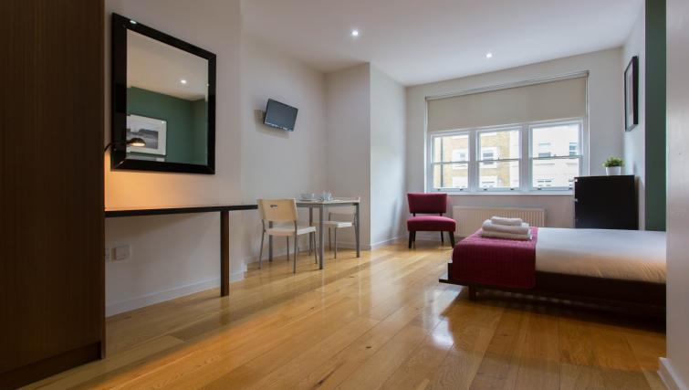 Small dining area at St James House - Citybase Apartments