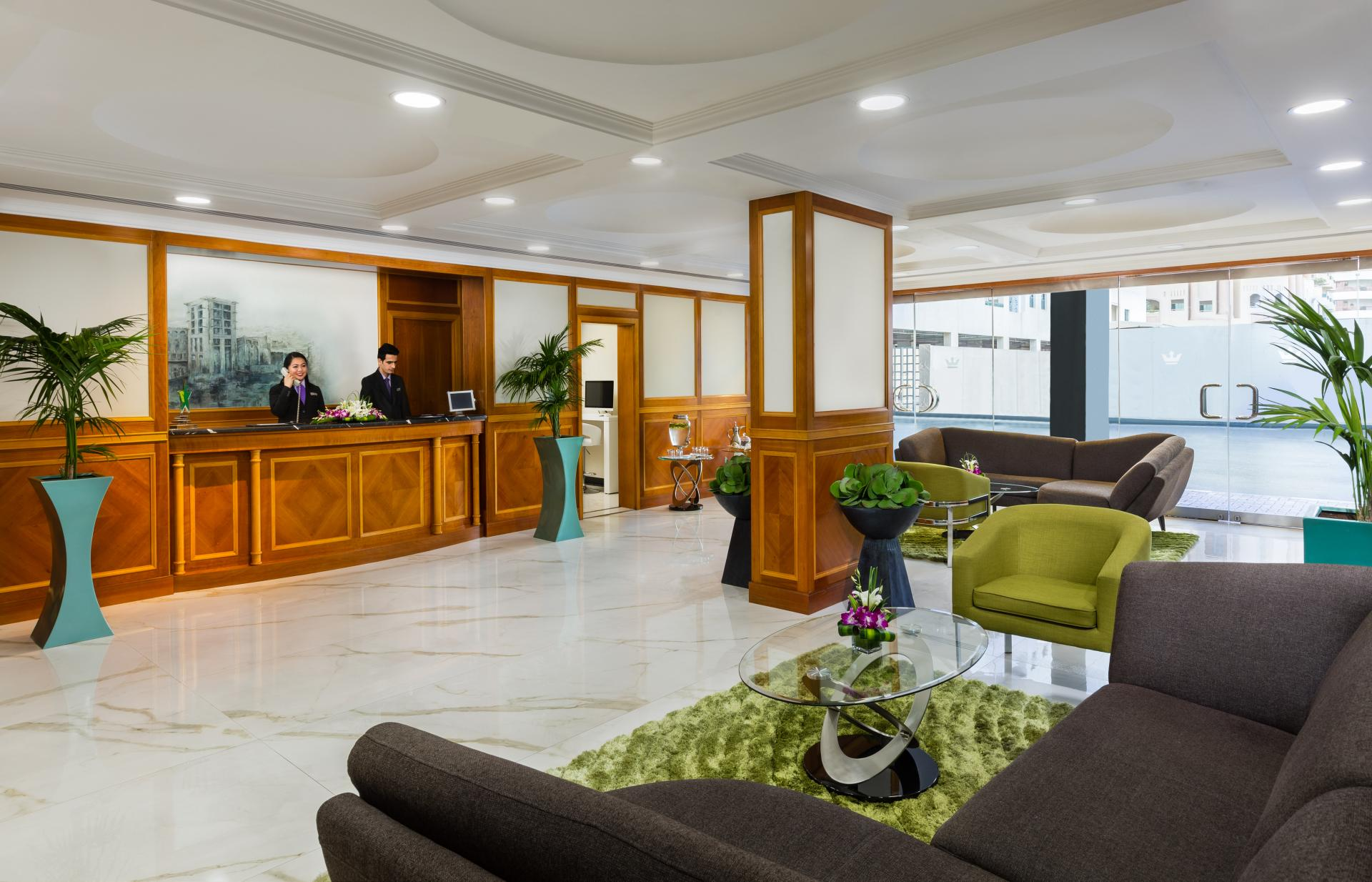 Lobby at Savoy Park Hotel Apartment - Citybase Apartments
