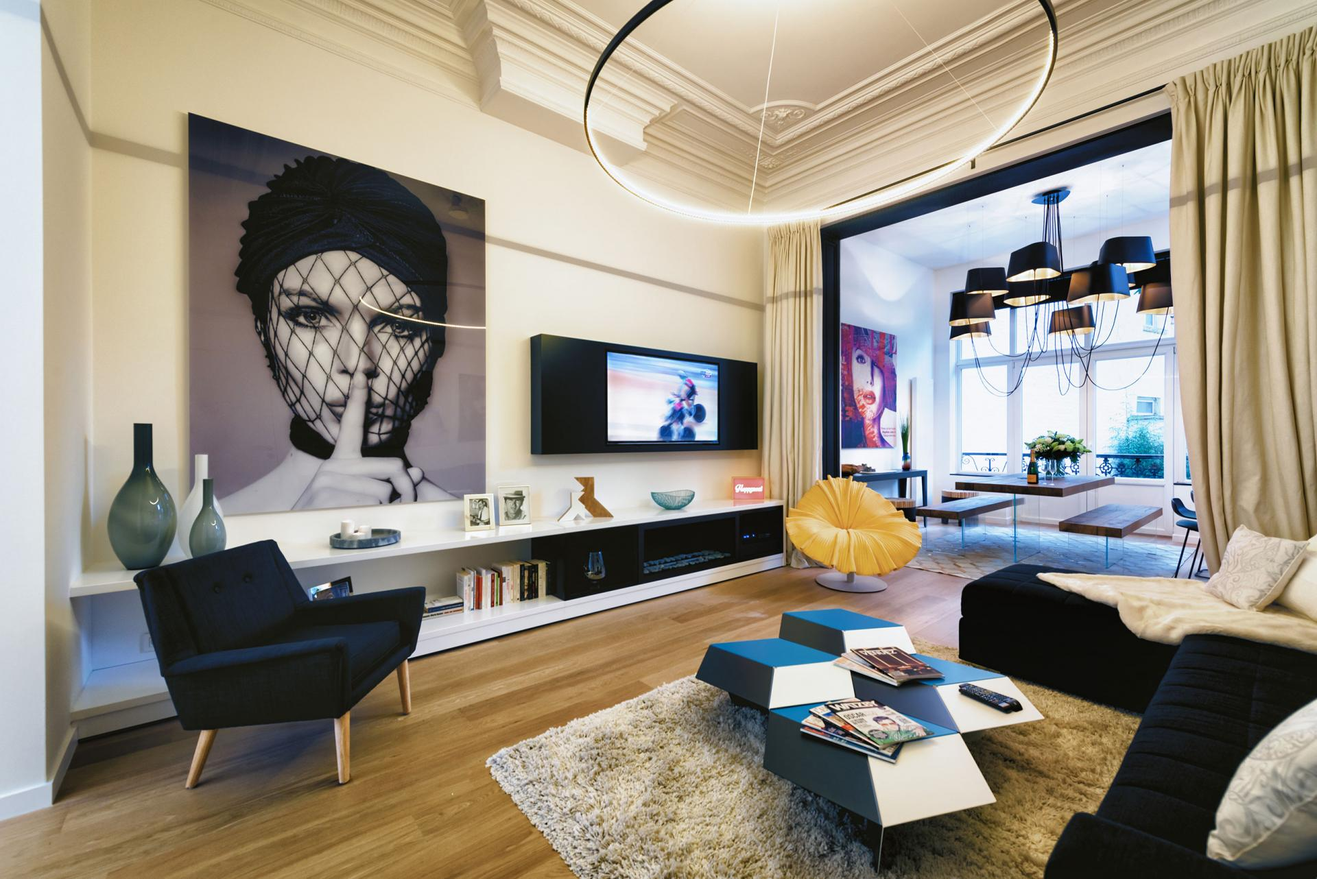 Living room at Amazone Charles Apartments - Citybase Apartments