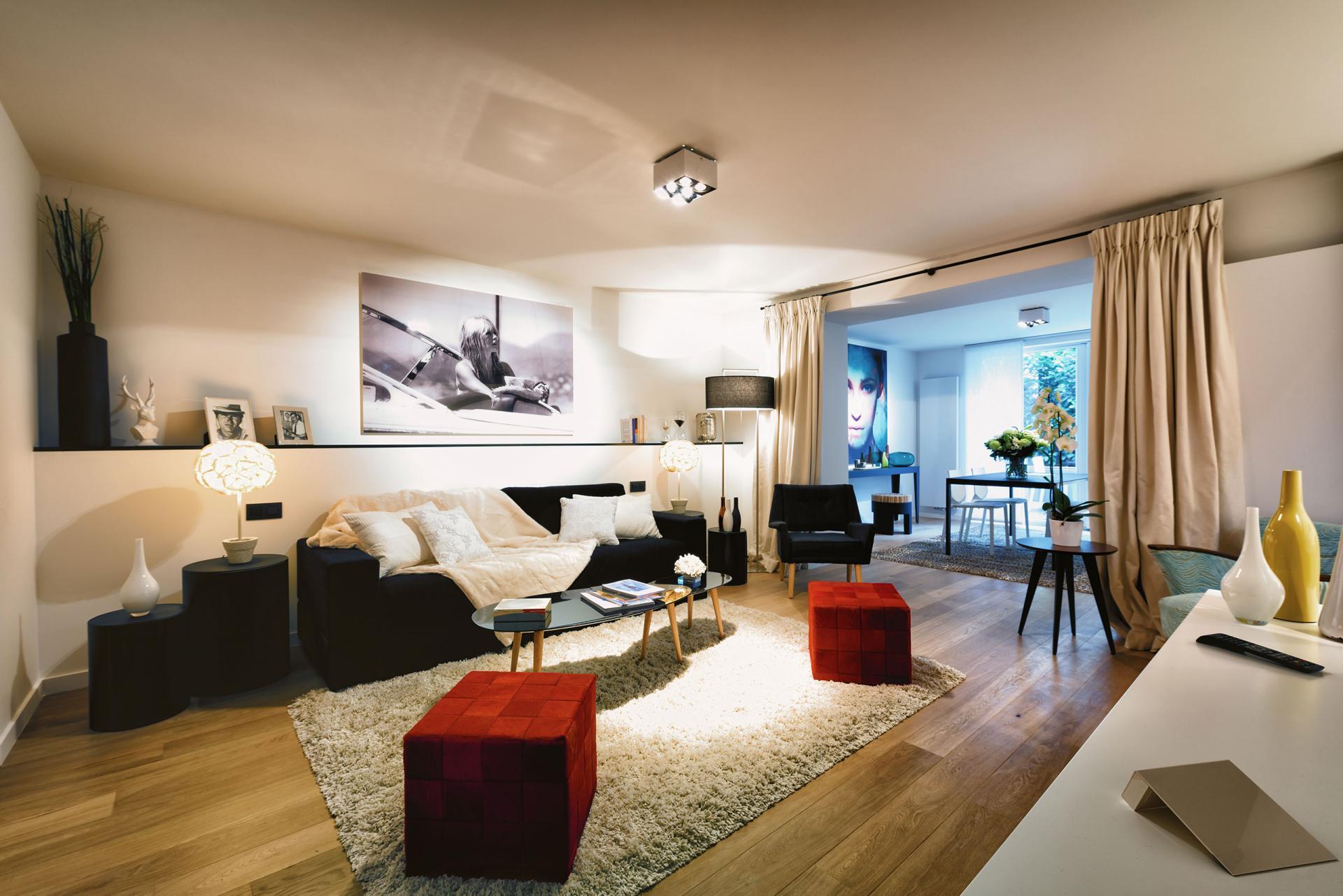 Living/Sleeping area at Amazone Charles Apartments - Citybase Apartments