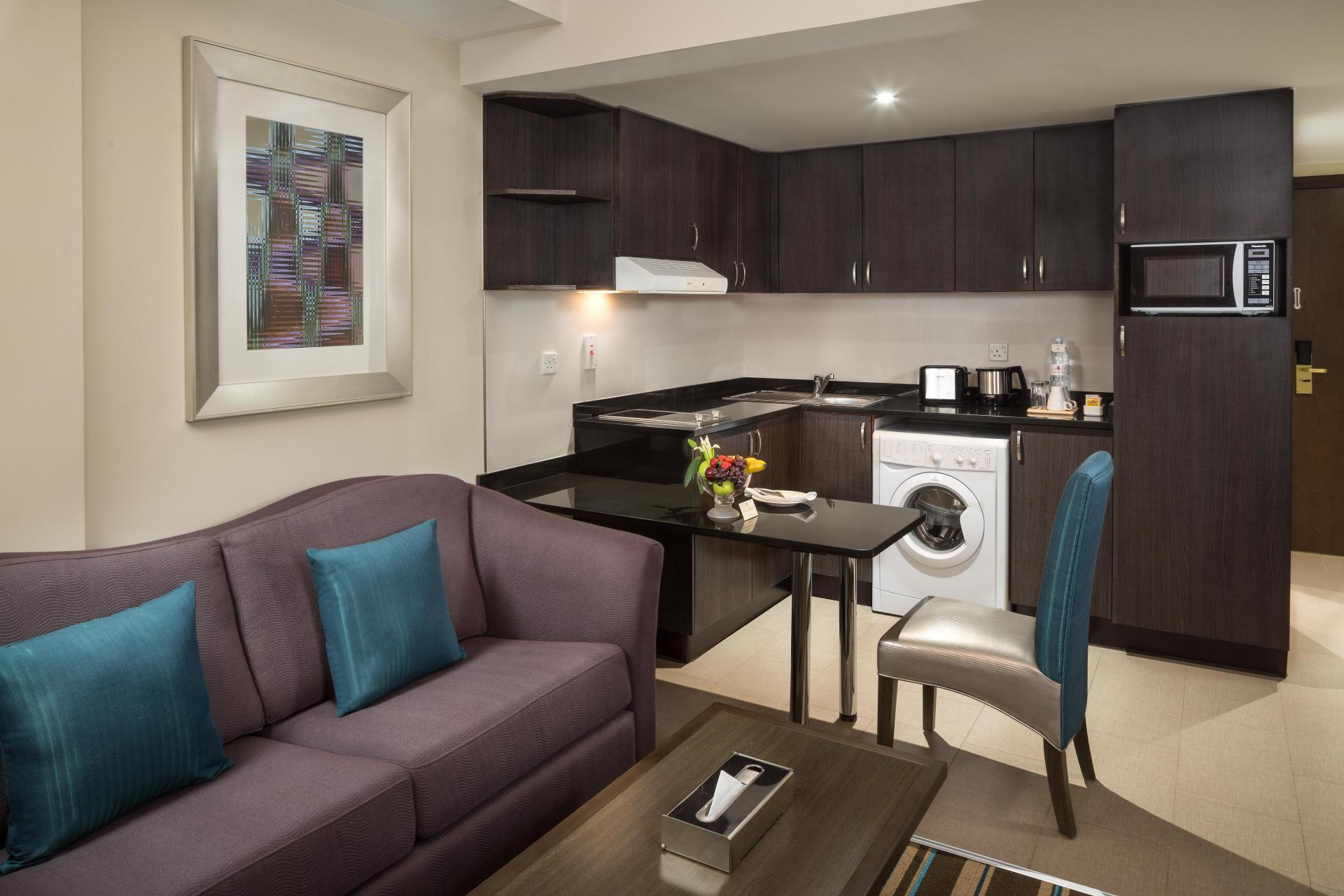 Kitchen at Savoy Central Hotel Apartments - Citybase Apartments