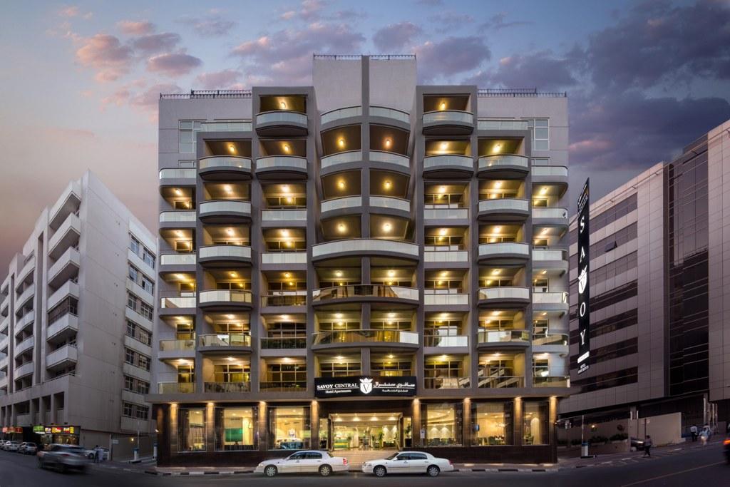 Exterior at Savoy Central Hotel Apartments - Citybase Apartments