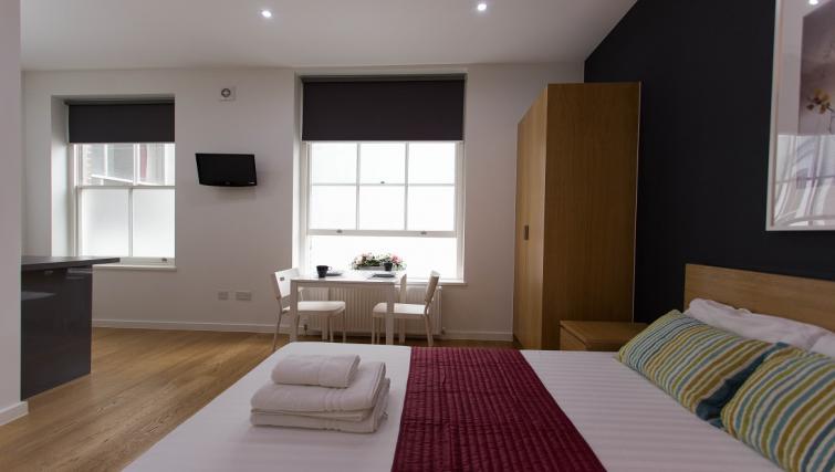 Double studio bed at Ladbroke Studios and Apartments - Citybase Apartments