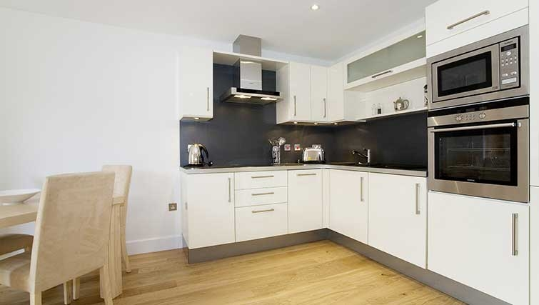 Open plan kitchen in The Hamiltons Apartments - Citybase Apartments
