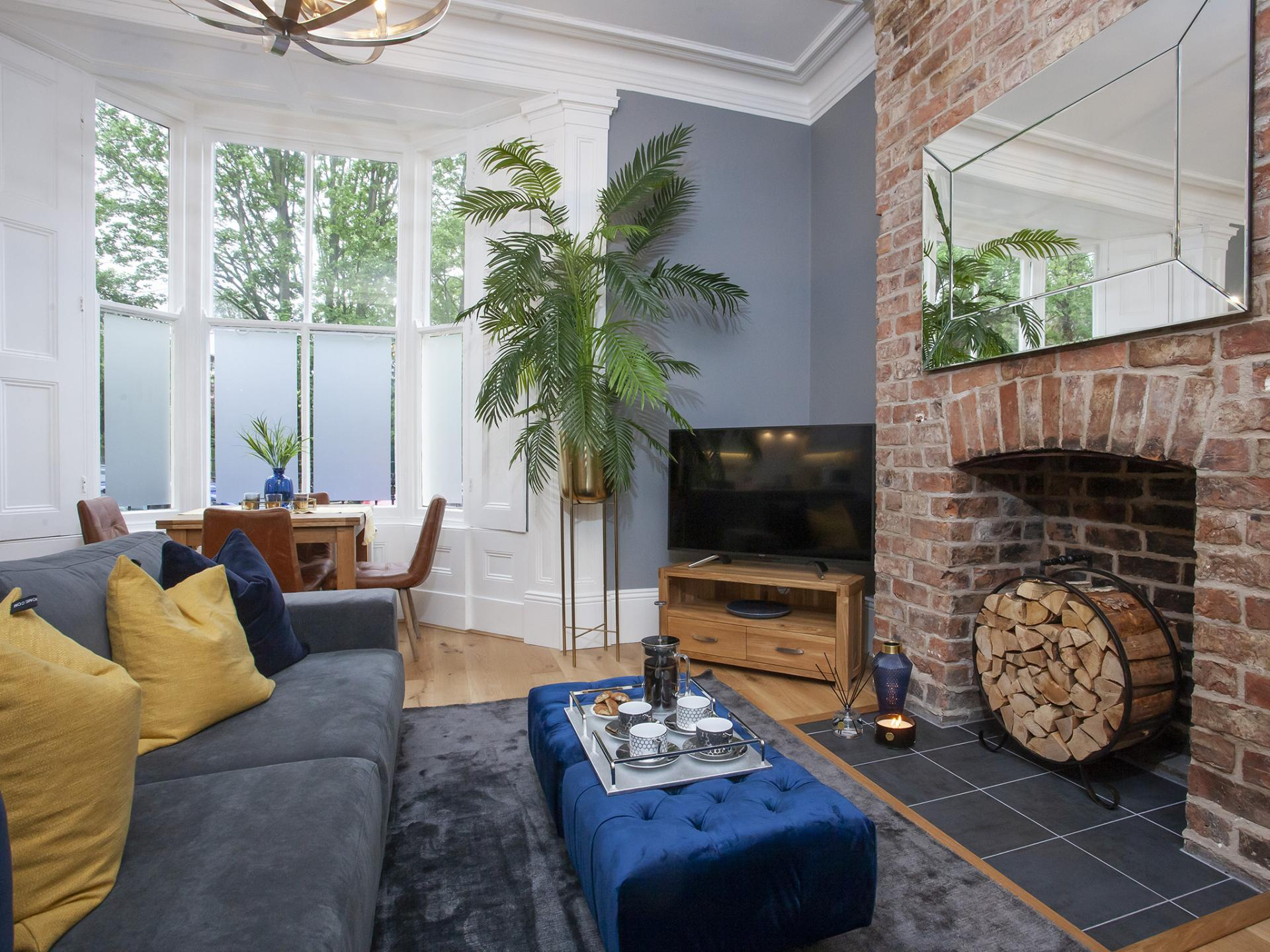 Fireplace at Bootham Luxury Apartments - Citybase Apartments