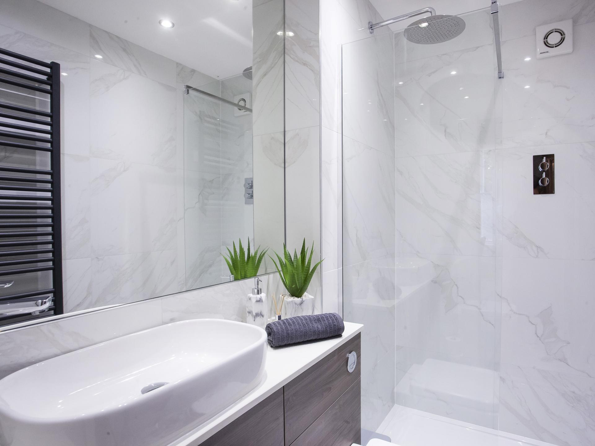 Bathroom vanity at Bootham Luxury Apartments - Citybase Apartments
