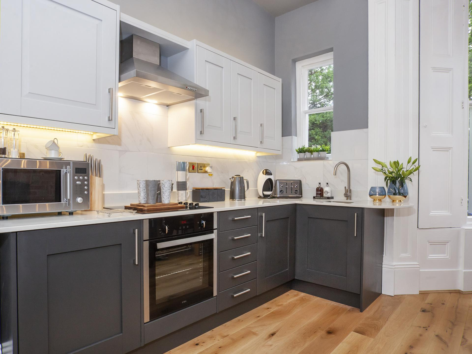 Kitchen at Bootham Luxury Apartments - Citybase Apartments
