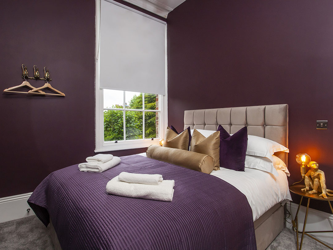 Luxurious bedspread at Bootham Luxury Apartments - Citybase Apartments