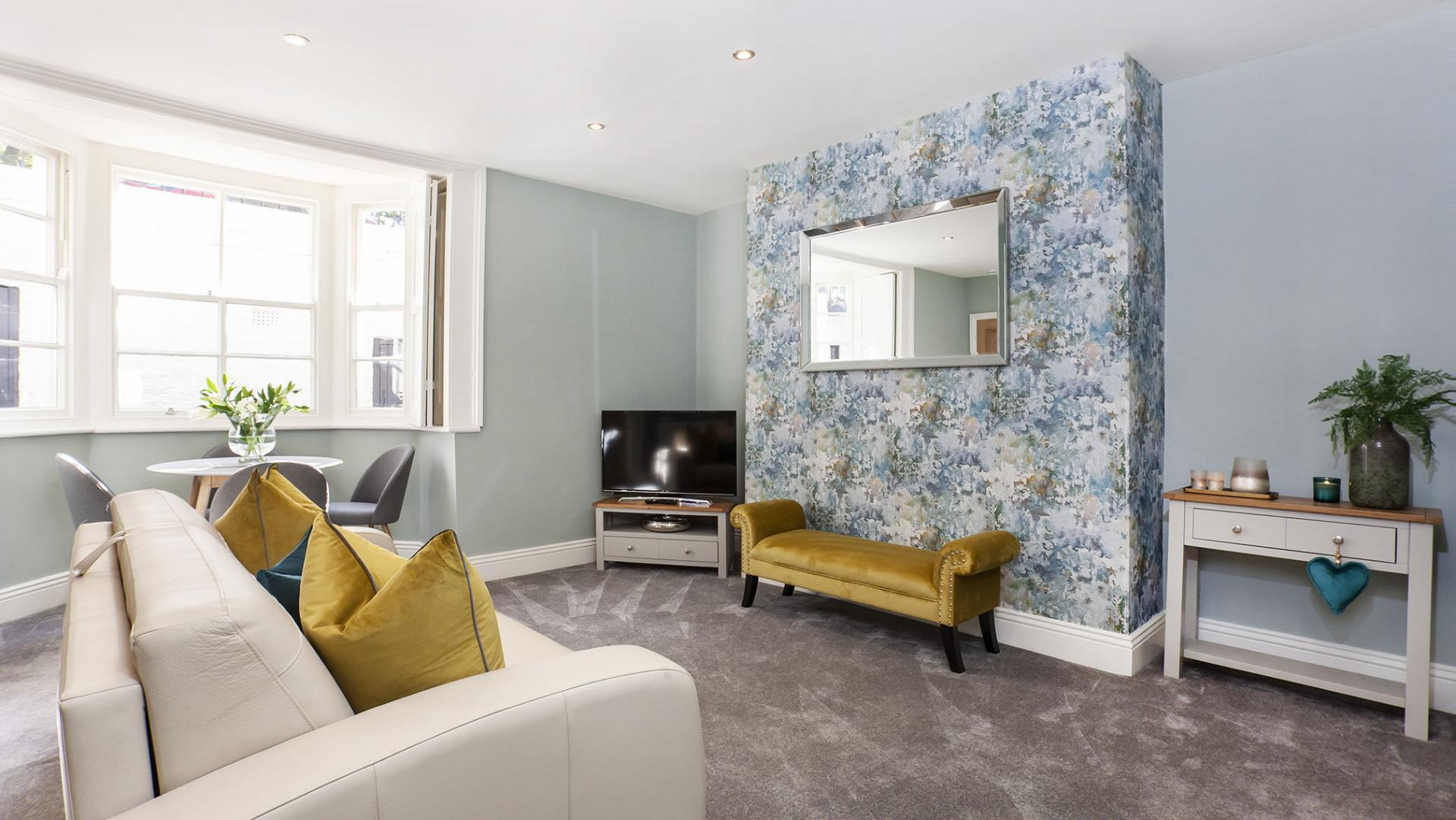Patterned wallpaper at Bootham Luxury Apartments - Citybase Apartments