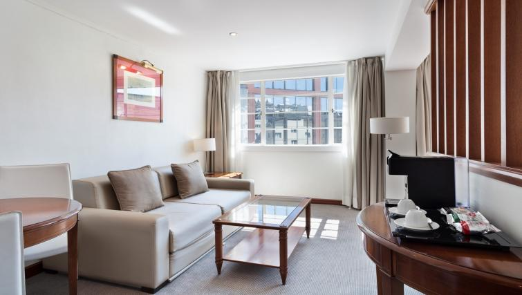 Modern living room at Melia White House Apartments - Citybase Apartments