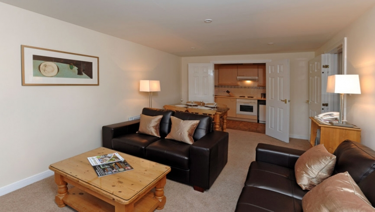 Cosy living area in Grove Apartments - Citybase Apartments