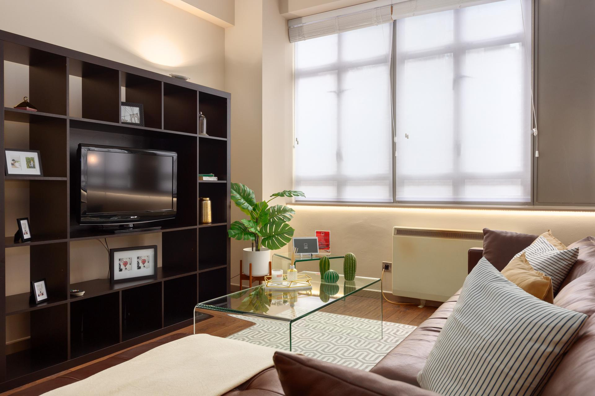 Sofa at Lawrence House Serviced Apartments, Old Street, London - Citybase Apartments