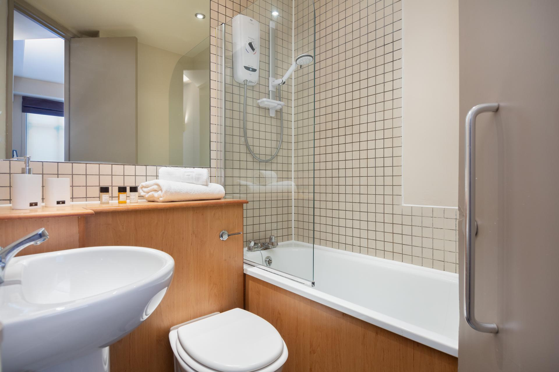 Bath at Lawrence House Serviced Apartments, Old Street, London - Citybase Apartments