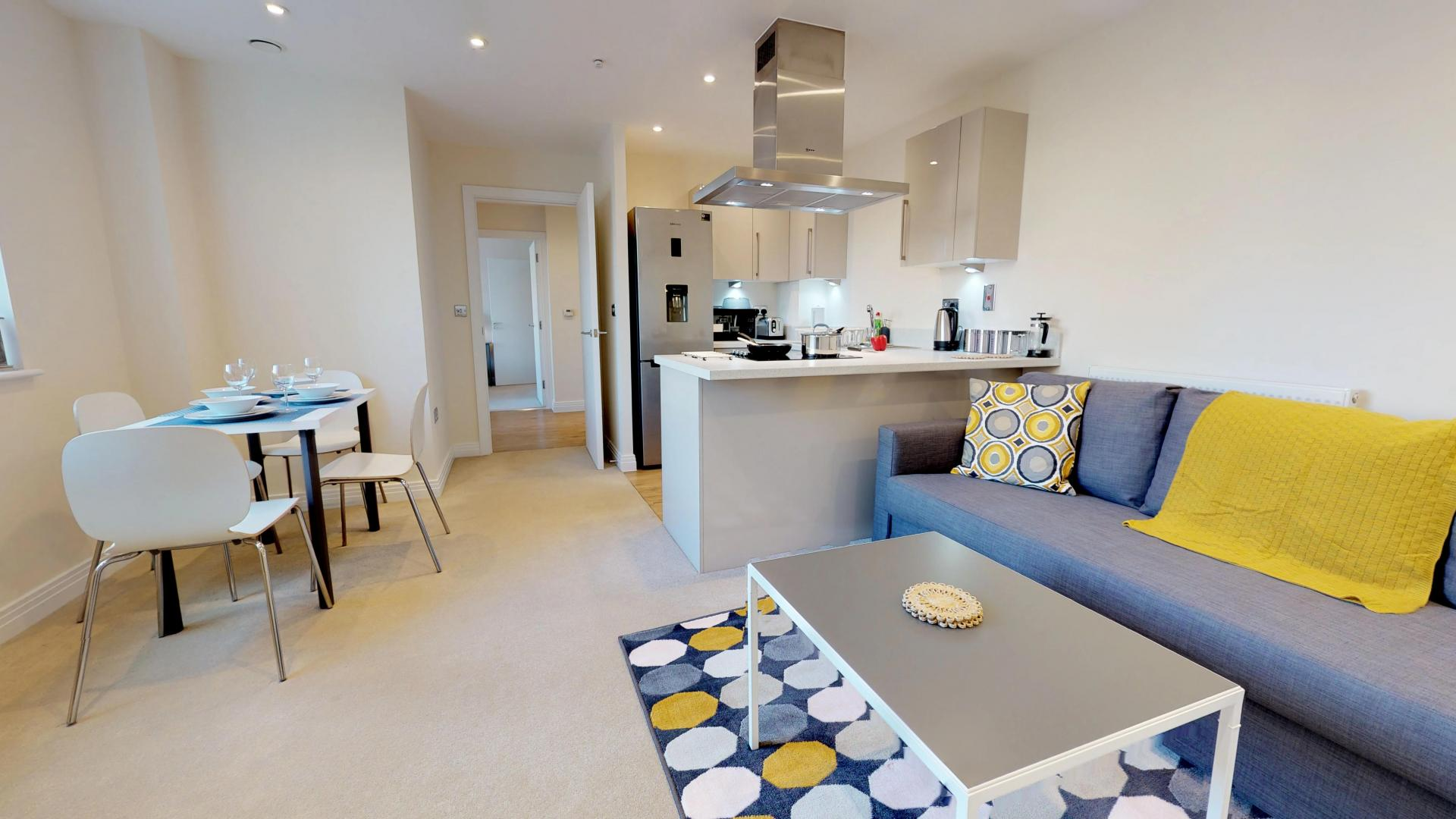 Open-plan at Empire House Apartments - Citybase Apartments