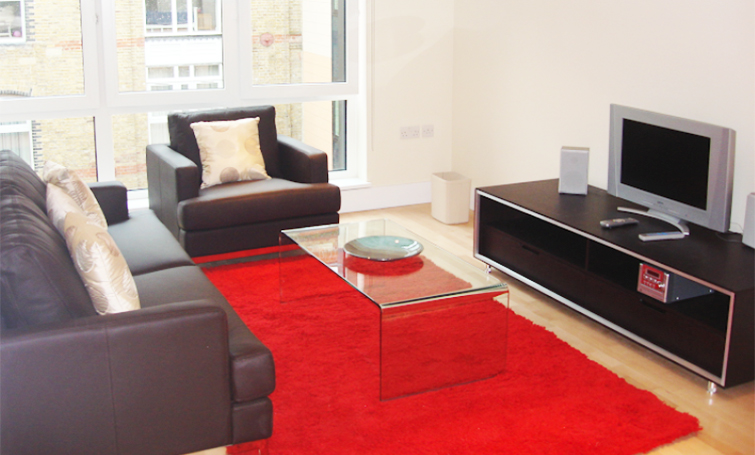 Living room at Sir John Lyon House Apartments - Citybase Apartments