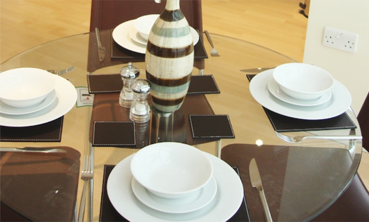 Dining set at Sir John Lyon House Apartments - Citybase Apartments