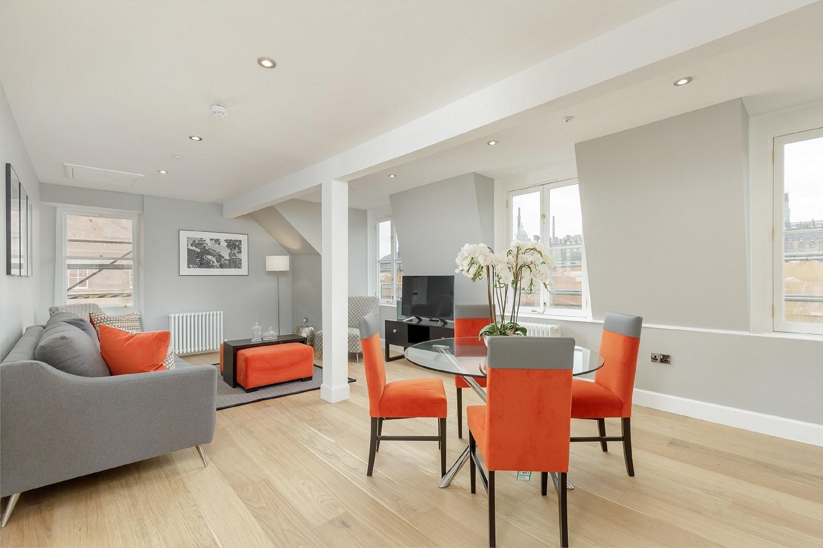 Dining table at Hanover Serviced Apartments - Citybase Apartments