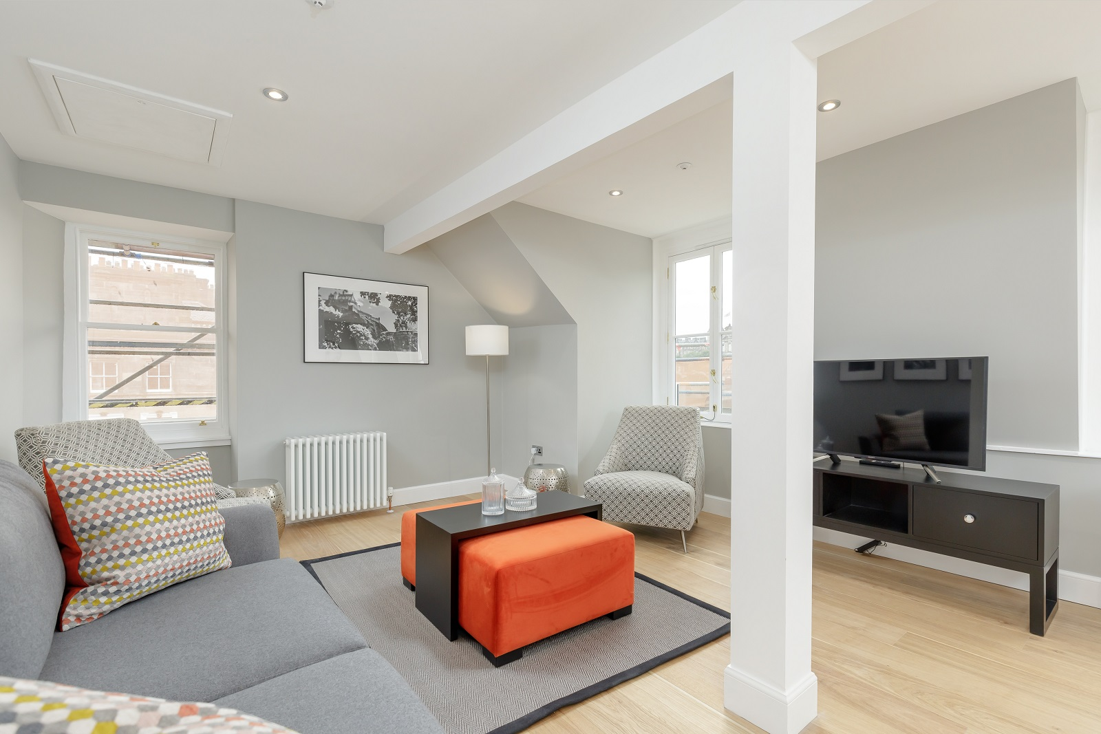 Living area at Hanover Serviced Apartments - Citybase Apartments
