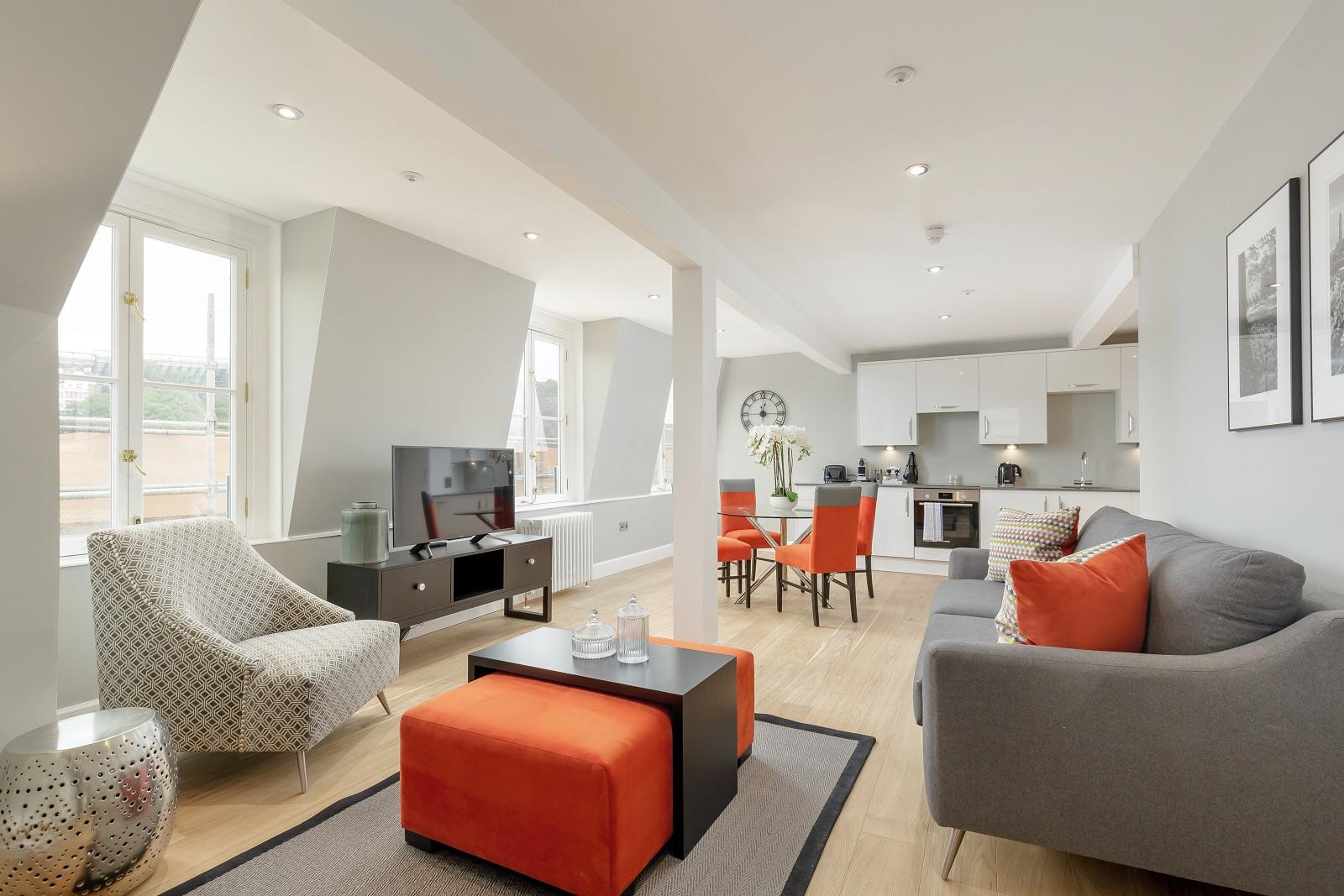 Living room at Hanover Serviced Apartments - Citybase Apartments