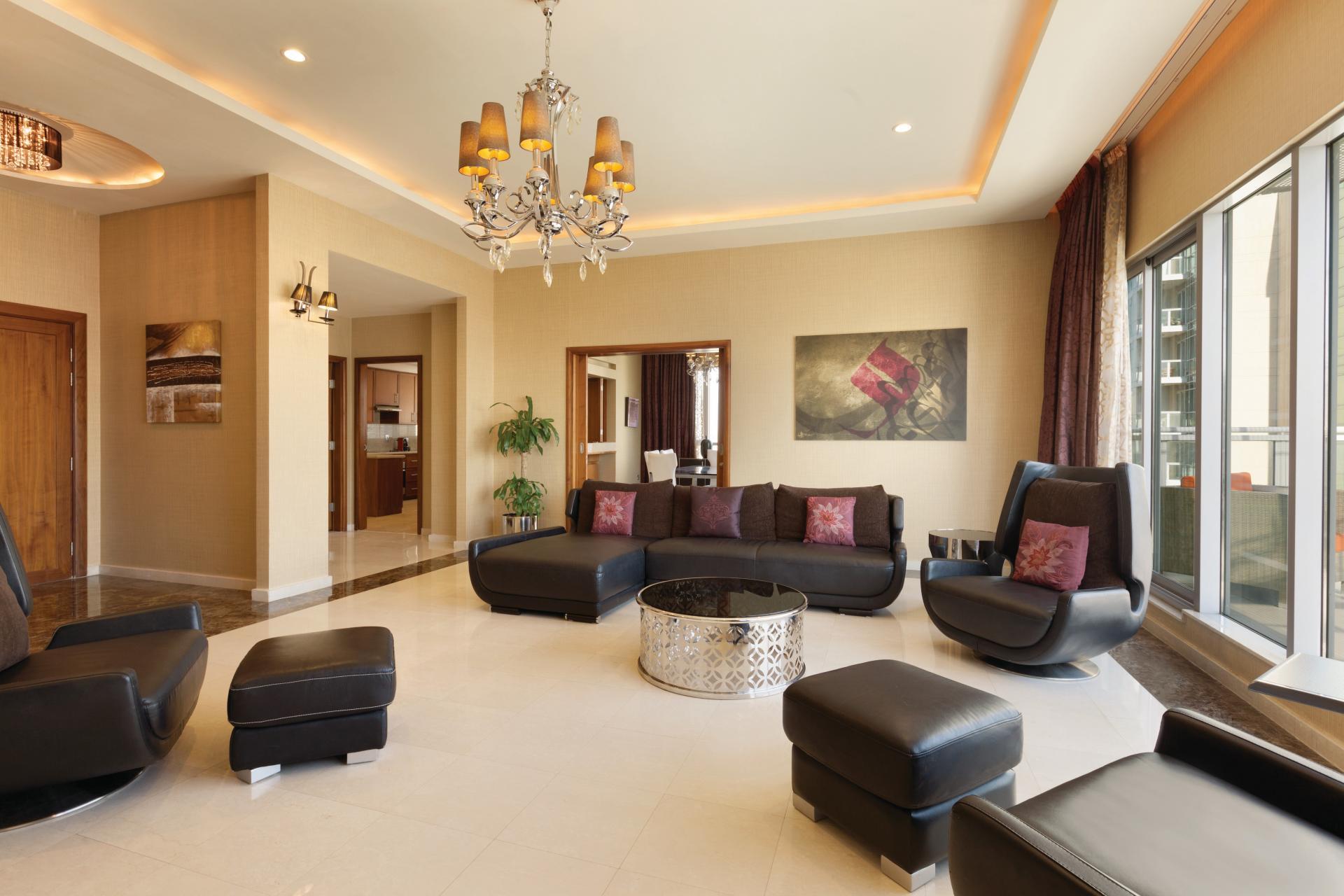 Living room at Ramada Downtown Dubai Apartments - Citybase Apartments