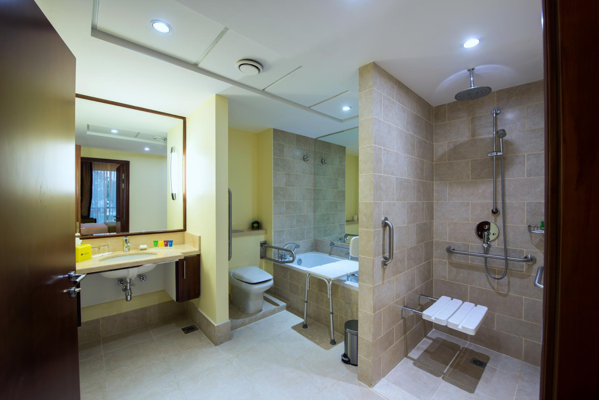 Accessible bathroom at Ramada Downtown Dubai Apartments - Citybase Apartments