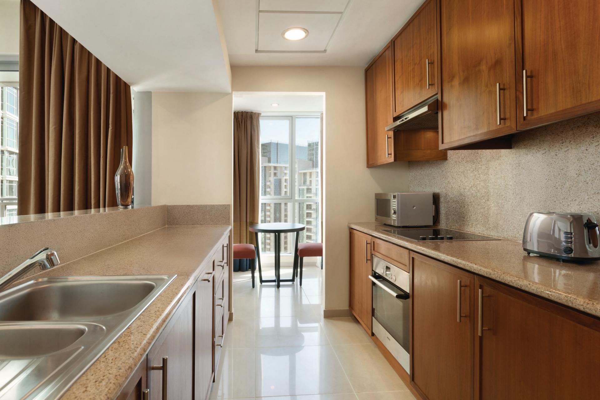 Kitchen facilities at Ramada Downtown Dubai Apartments - Citybase Apartments
