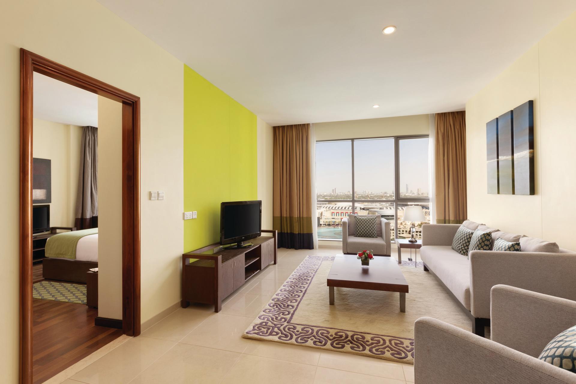 Bright lounge at Ramada Downtown Dubai Apartments - Citybase Apartments