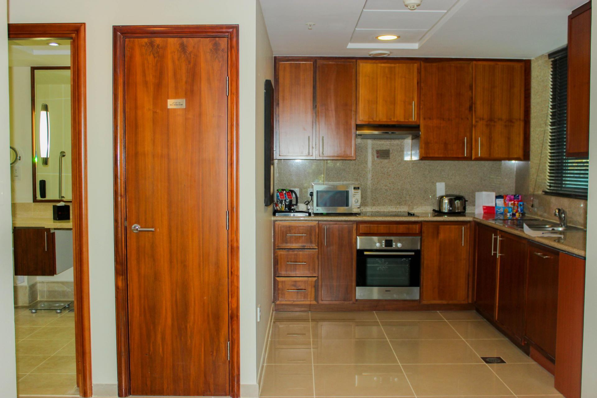 Large kitchen at Ramada Downtown Dubai Apartments - Citybase Apartments