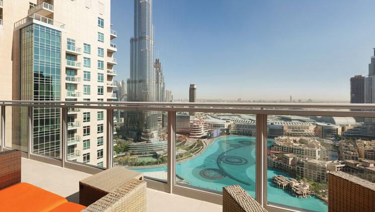 Balcony at Ramada Downtown Dubai Apartments - Citybase Apartments