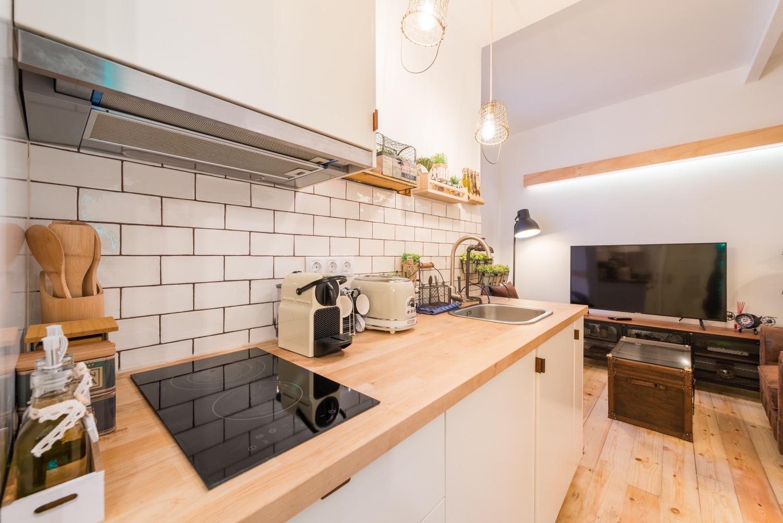 Kitchen at Atocha Nest Apartment - Citybase Apartments
