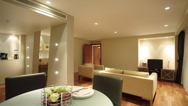 Lavish living area in Park Plaza Victoria - Citybase Apartments