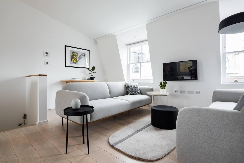 Sofa at The Charterhouse Apartments - Citybase Apartments