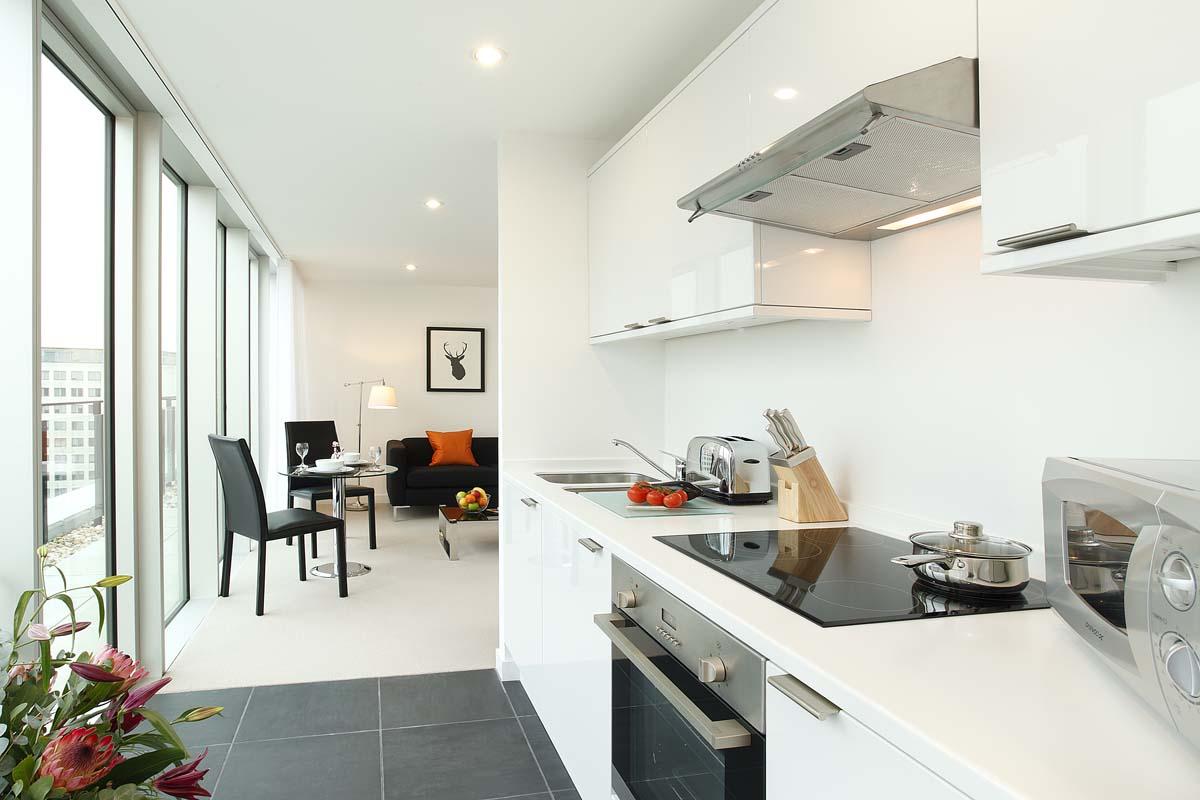 Modern kitchen at SACO Waterloo - York Road - Citybase Apartments