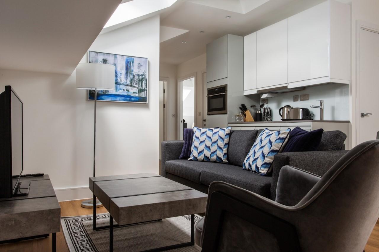 Sofa at The Atria, Salt Hill, Slough - Citybase Apartments