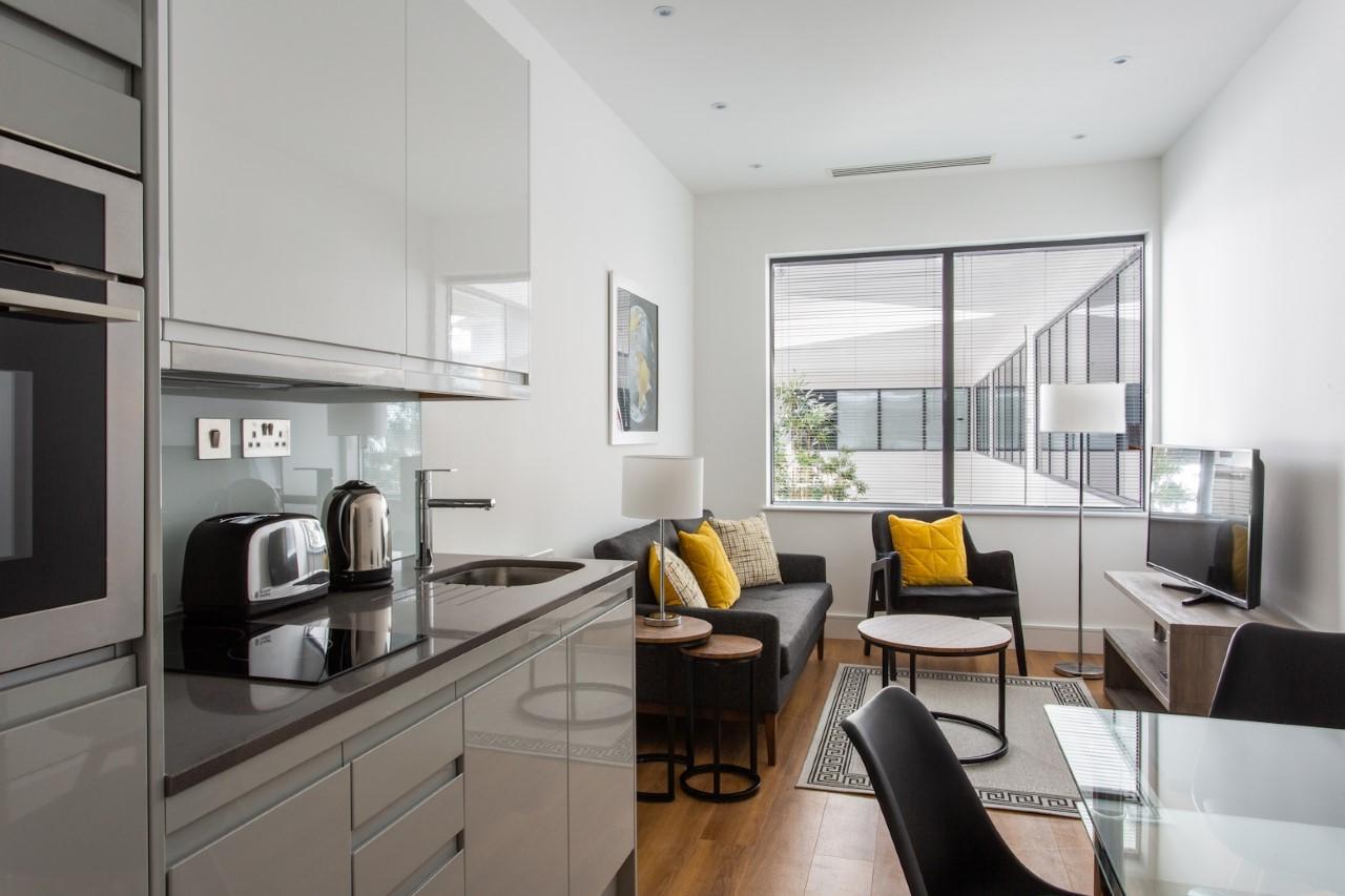 Kitchen at The Atria, Salt Hill, Slough - Citybase Apartments