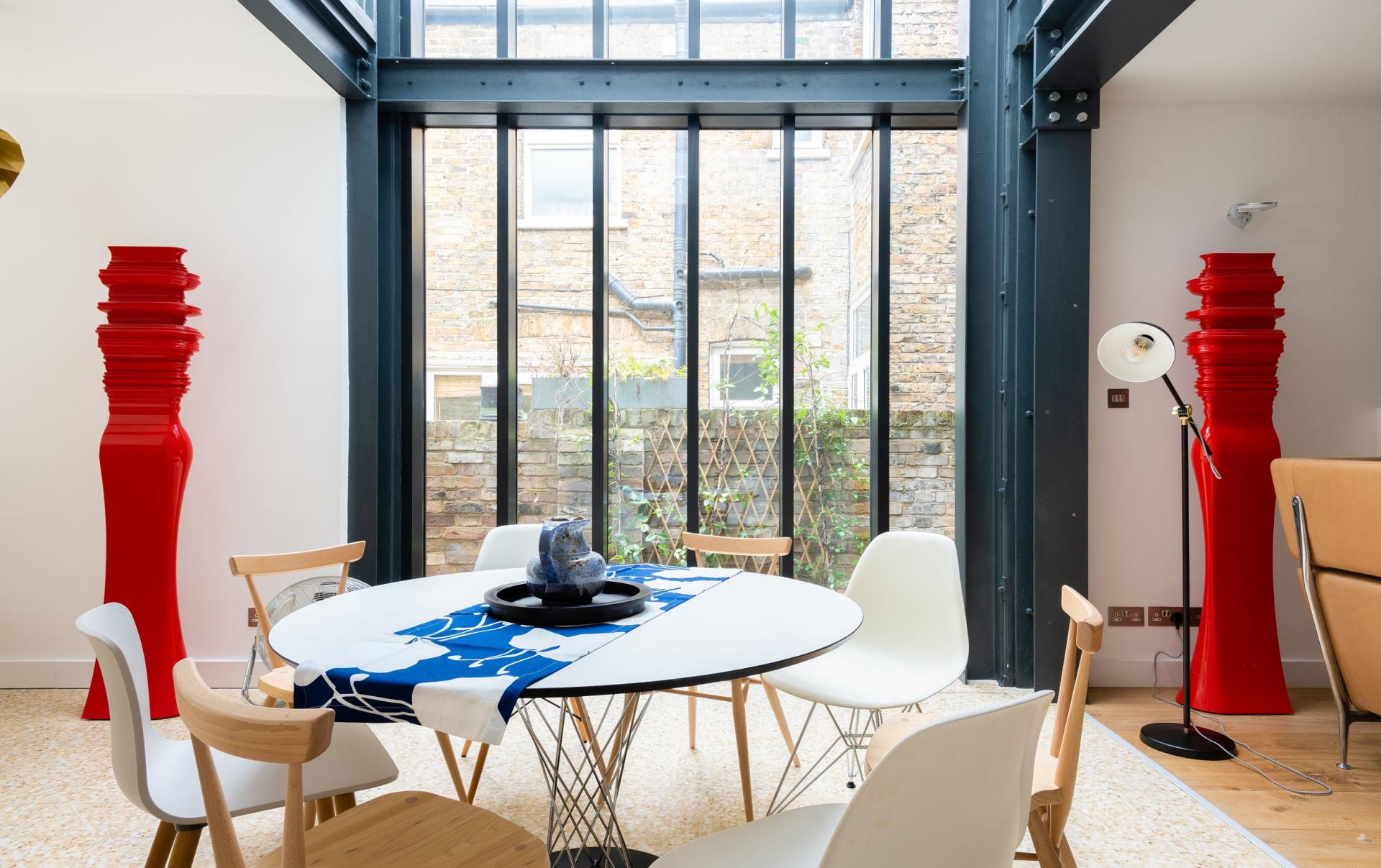 Bright dining area at The Oxford Gardens, White City, London - Citybase Apartments