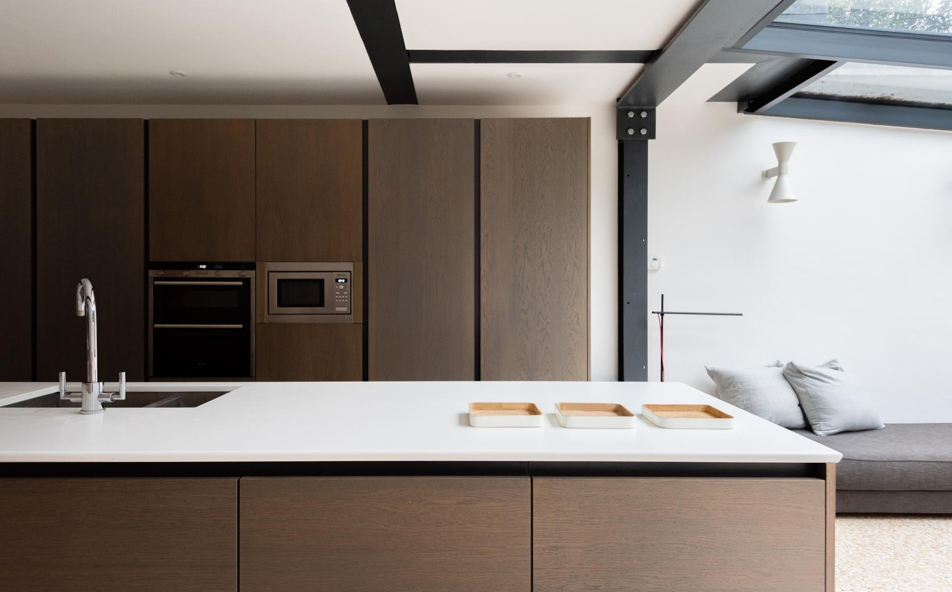 Fully equipped kitchen at The Oxford Gardens, White City, London - Citybase Apartments