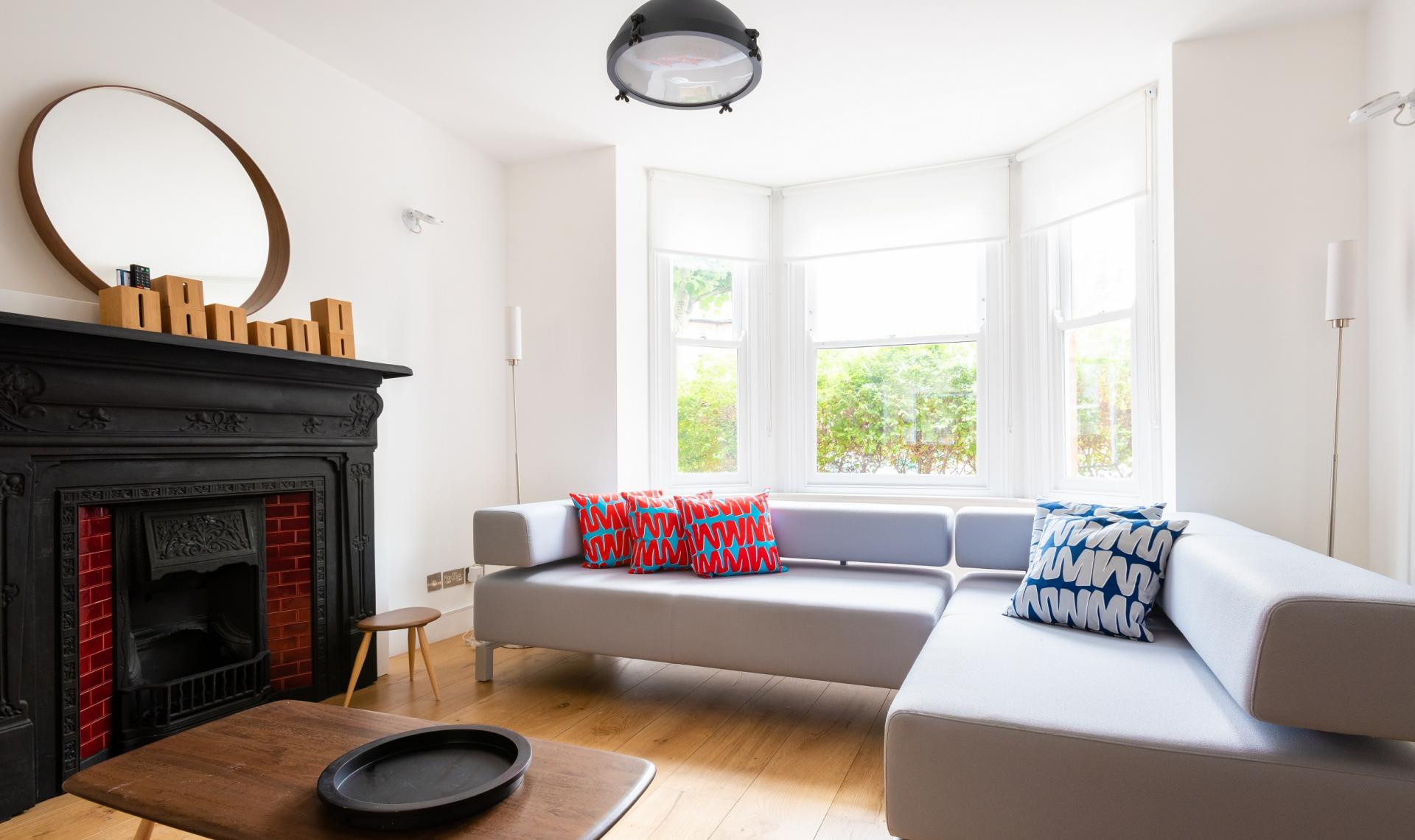 Living area at The Oxford Gardens, White City, London - Citybase Apartments