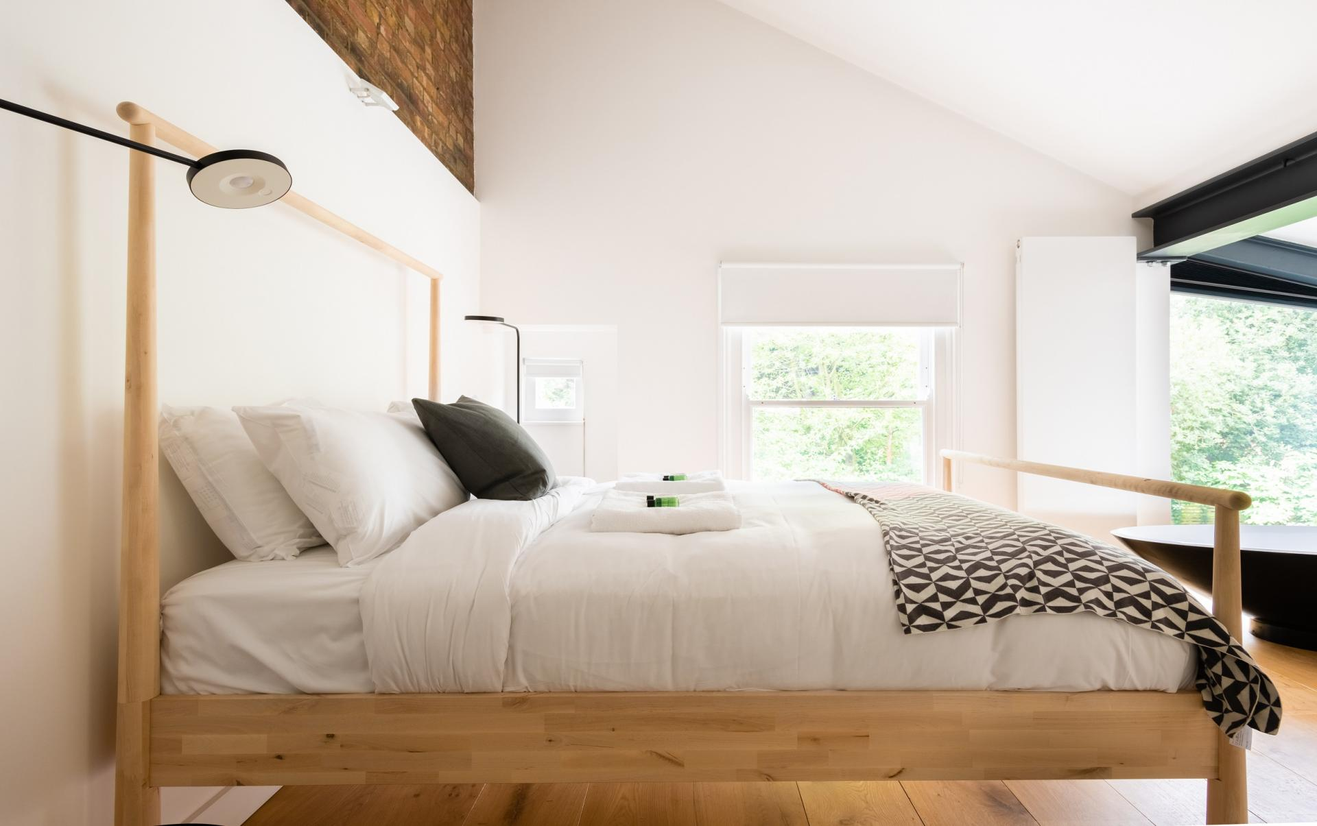 Bed at The Oxford Gardens, White City, London - Citybase Apartments