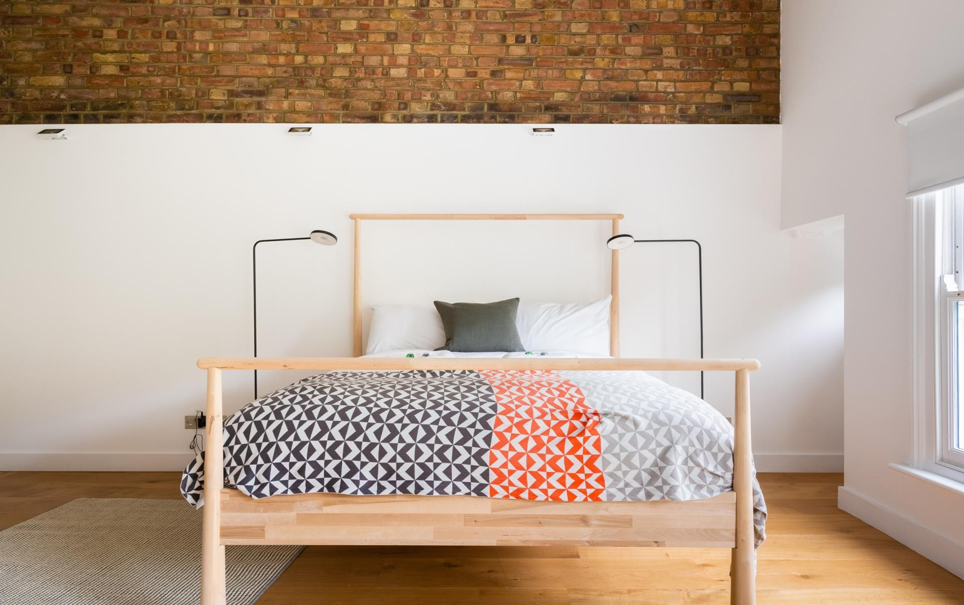 Exposed brick at The Oxford Gardens, White City, London - Citybase Apartments