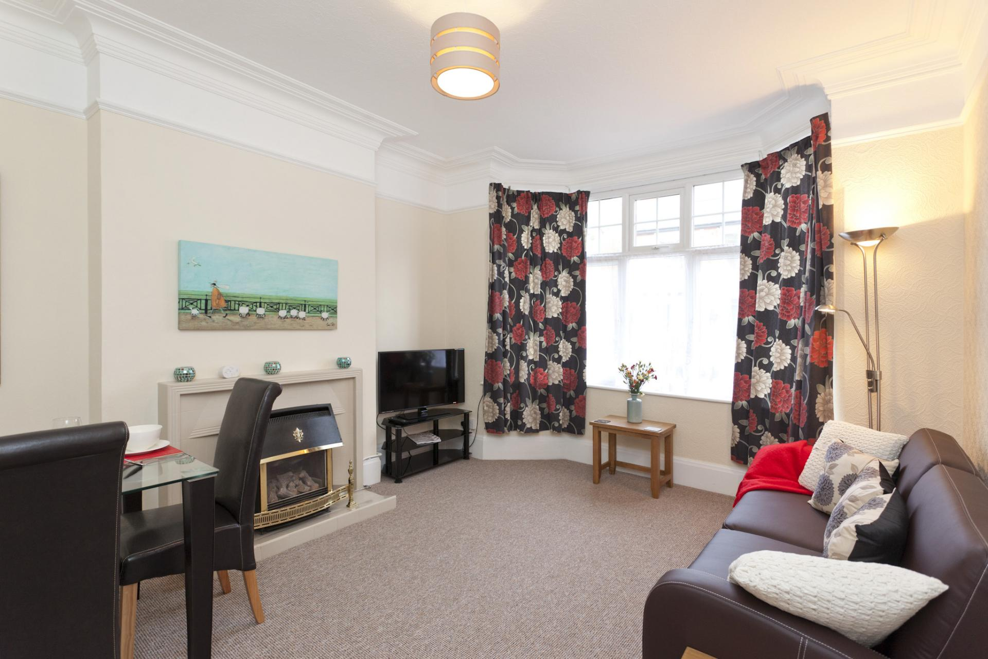 Living area at West Bridgford Apartment - Citybase Apartments