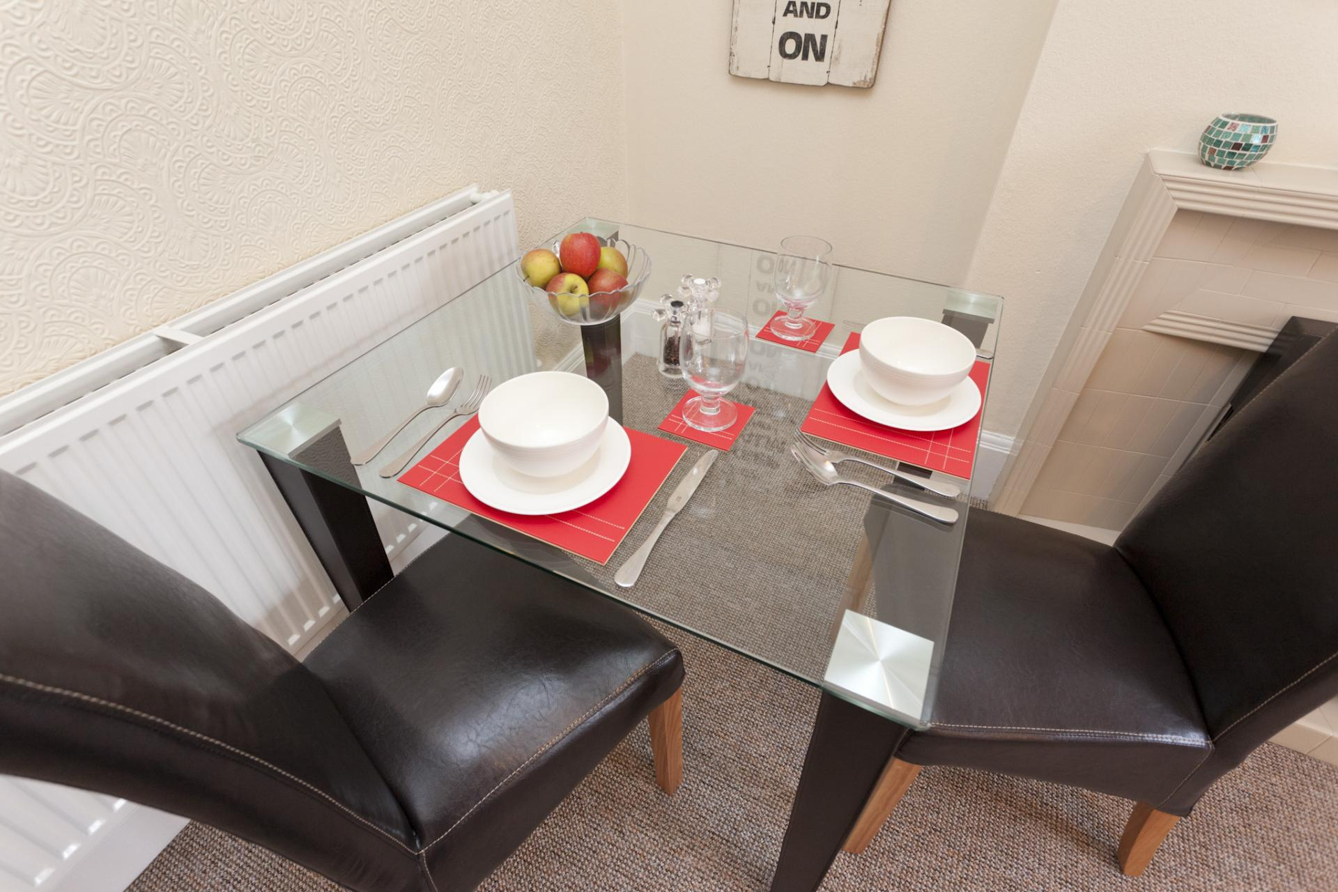 Dining area at West Bridgford Apartment - Citybase Apartments