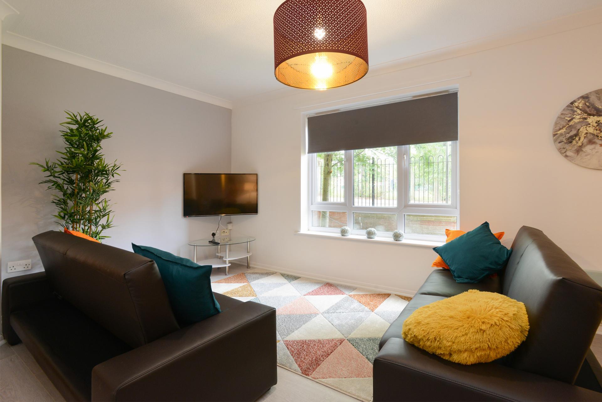 Lounge at Brook Court Apartment, Radford, Nottingham - Citybase Apartments