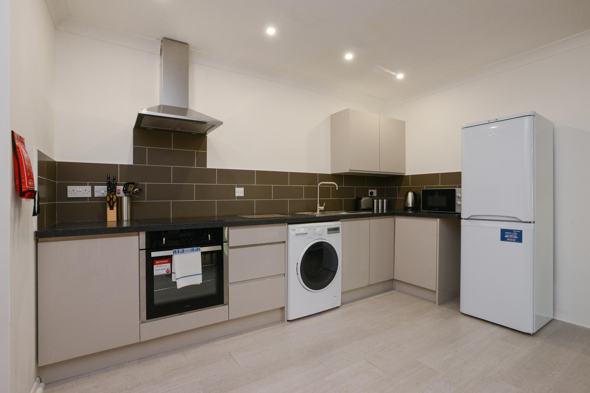 Kitchen at Brook Court Apartment, Radford, Nottingham - Citybase Apartments