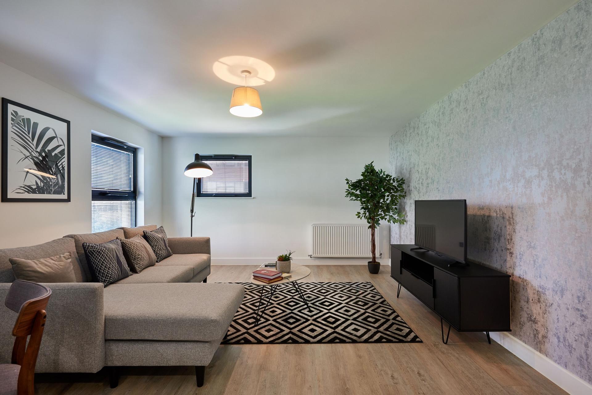 Living Room at Tennant Street Apartments - Citybase Apartments