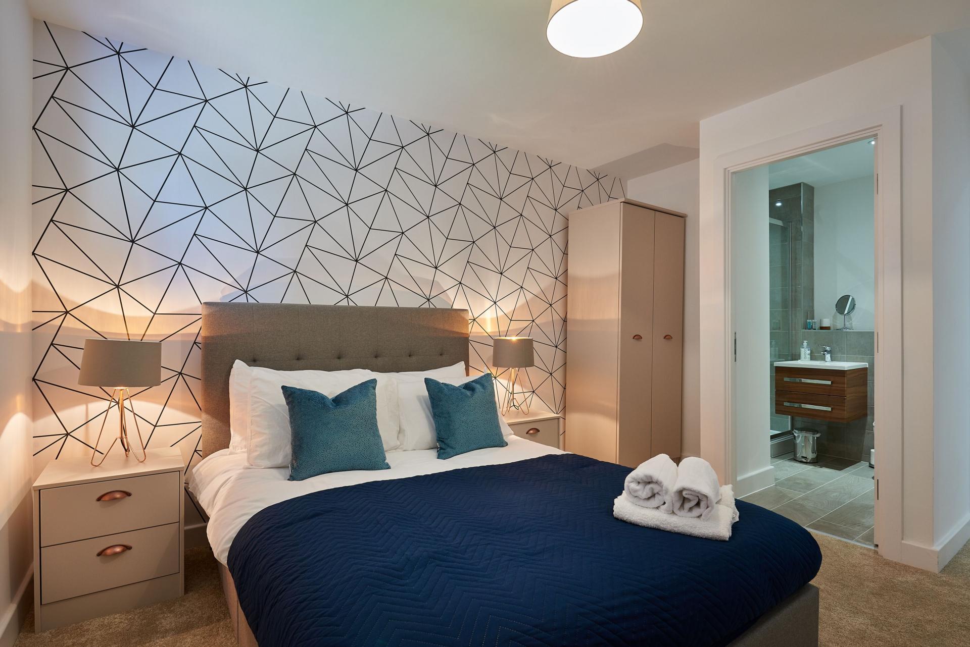Master bedroom at Tennant Street Apartments - Citybase Apartments