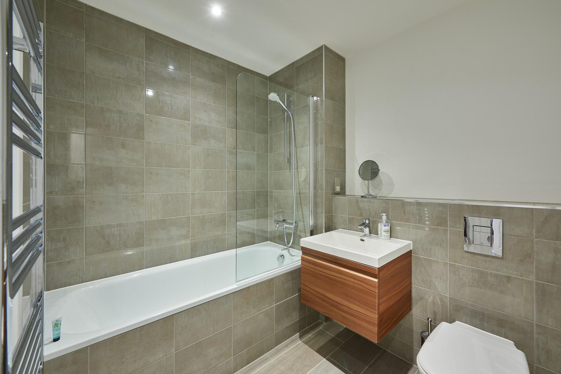 Bathroom at Tennant Street Apartments - Citybase Apartments
